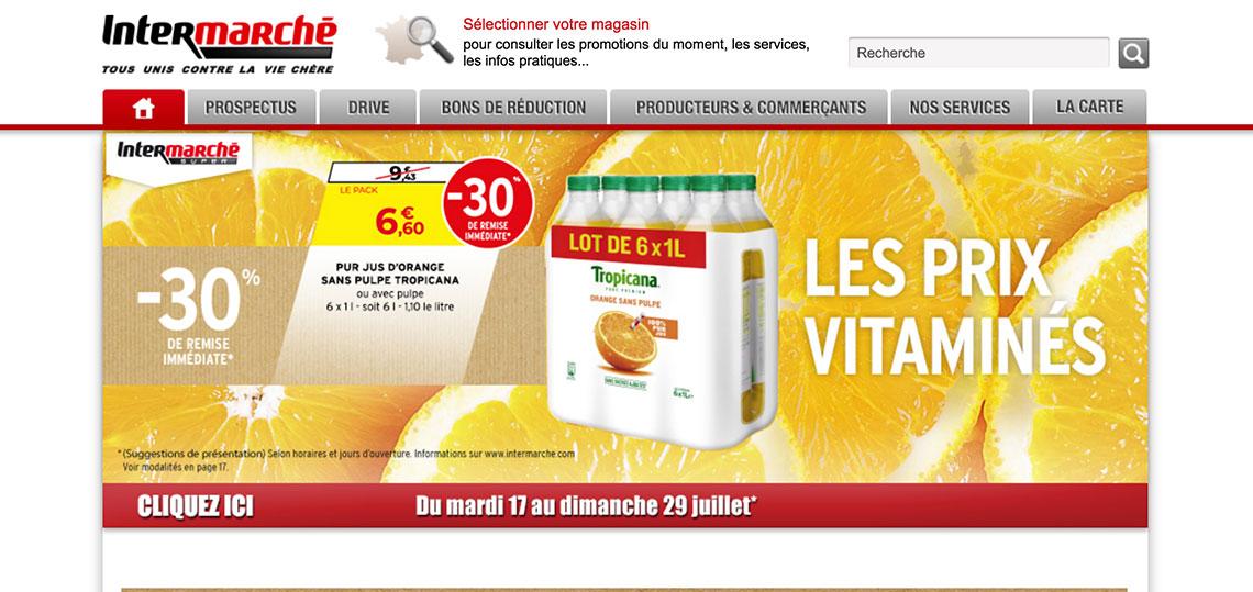 Intermarché, magasin de grande distribution, client de l'agence digitale et webmarketing Resooh à Paris, Bayonne, Biarritz, Anglet