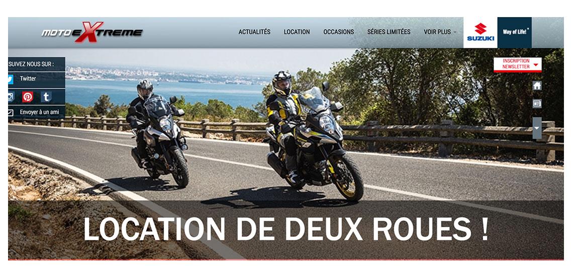 Moto extreme concessionaire Suzuki, client de l'agence digitale et webmarketing resooh à Biarritz, au Pays basque et à paris