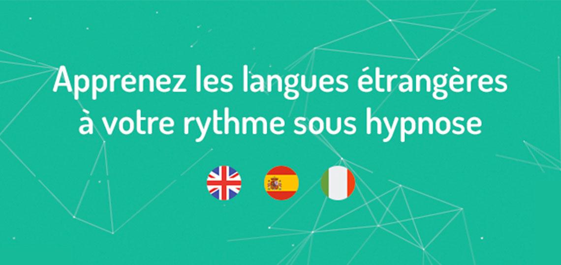 hypnoledge plateforme d'apprentissage sous hypnose de langue étrangere, client de l'agence de communication digitale Resooh au pays basque, à biarritz, bayonne, anglet, bordeaux et à Paris